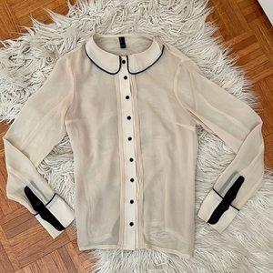 VERO MODA sheer button up blouse XS